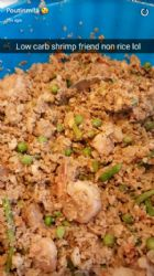Low carb shrimp fried not rice