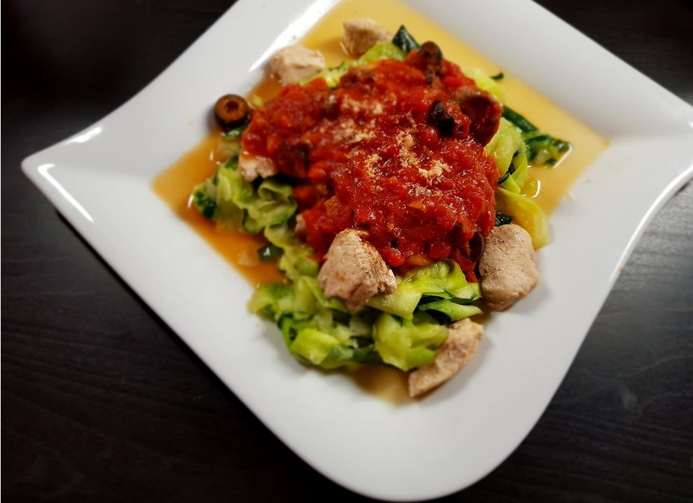 Low carb zucchini Chicken  Pasta