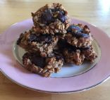 Low sugar stevia chocolate chip oatmeal cookies