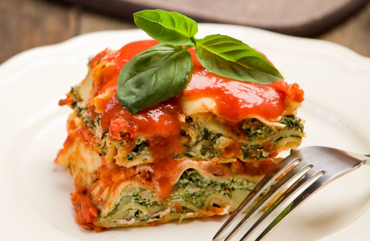 Lower Fat Spinach Lasagna