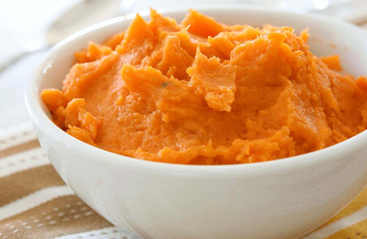Maple-Mashed Sweet Potatoes