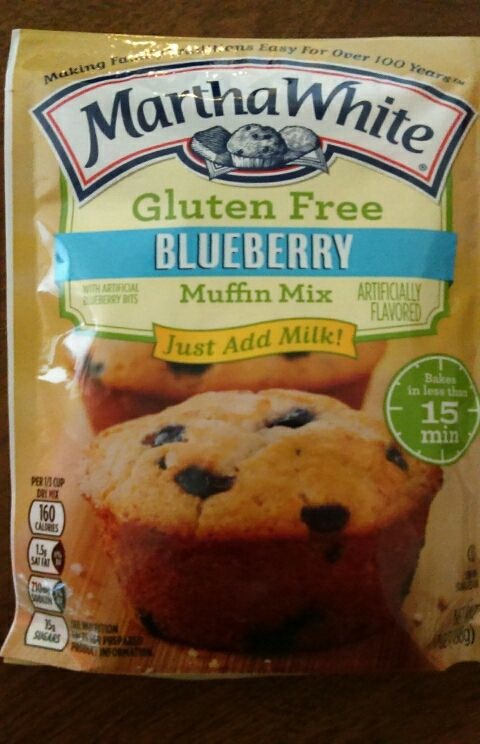 Martha White gluten free blueberry muffins