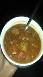Mexican meatball and bean soup