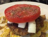 Mexican meatloaf stuffed Burgers
