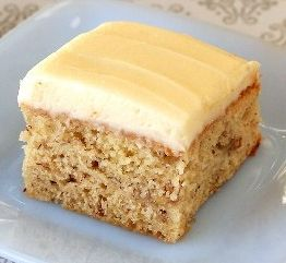 Michael A's Banana Cake Bars with Honey Cream Cheese Frosting