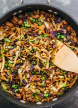 Mince with carrots and cabbage