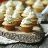 Mini Cornmeal Cupcakes with Maple Butter Cream