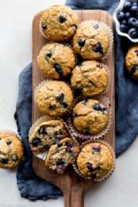 Blueberries muffins (with oats)