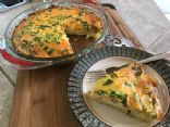 Mushroom Bacon Quiche with Hashbrown Crust
