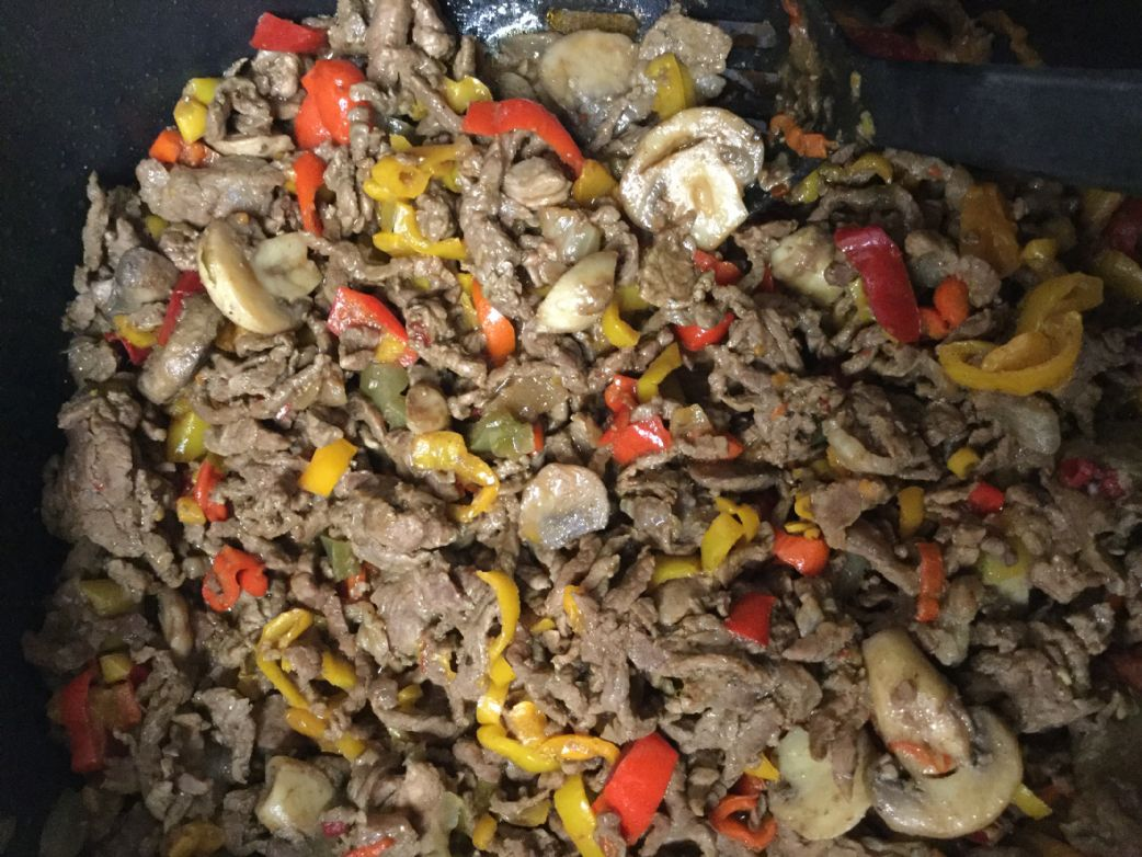 Mushroom and Sweet Pepper Steak