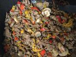 Mushroom and Sweet Pepper Steak