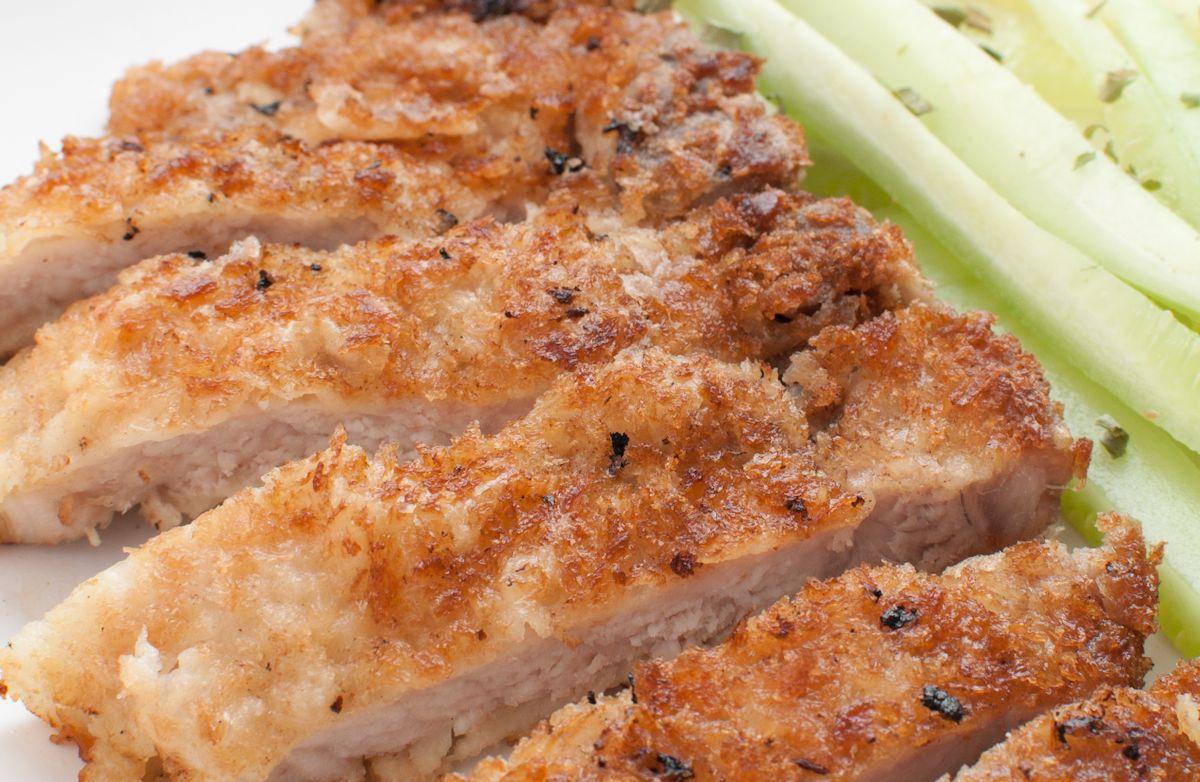 Mustard Panko-Encrusted Pork Tenderloin