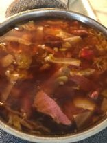 Nadine corned beef and cabbage soup - half quart