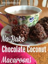 No-Bake Chocolate Coconut Macaroons