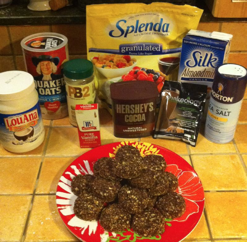 No Bake Protein PB2 Chocolate Oatmeal Cookies - makes 20