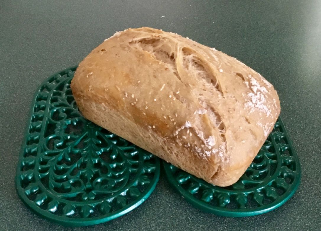 No-Knead Italian Sesame Seed Dutch Toaster Oven Loaf Bread