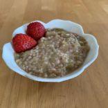 Oatmeal,Quinoa & Rhubarb cereal