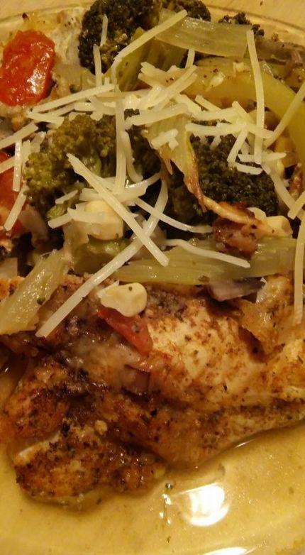 Old Bay Chicken Veggie Casserole