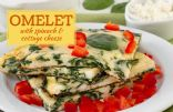 Omelet with Spinach and Cottage Cheese