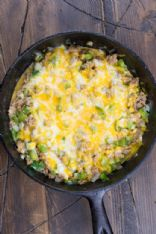 One Pan Keto Philly Cheesesteak Skillet