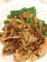 Onion and Garlic Chicken with Sun-dried Tomatoes By Tamera