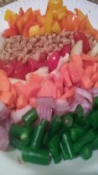 Over the Rainbow Chopped Vegetable Salad