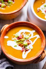 Paleo Running Momma Butternut Squash Soup w/Bacon & Apples