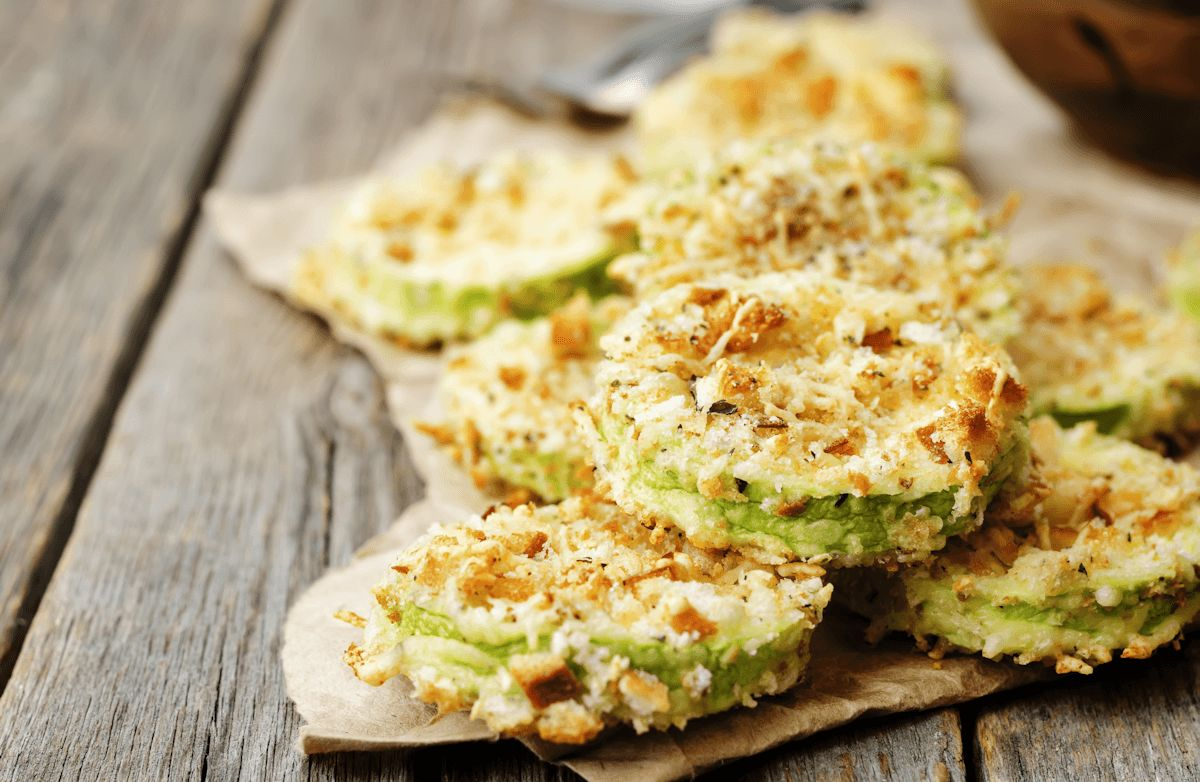 Parmesan Zucchini Crisps Recipe | SparkRecipes