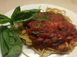 Pasta with Basil Sauce & Veggies