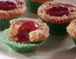 Peanut Butter and Strawberry Muffins