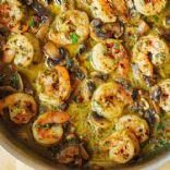 Pesto Shrimp with Mushrooms (Keto)