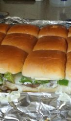 Phill cheesesteak sliders