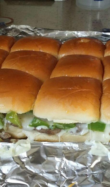 Phill cheesesteak sliders