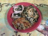 Pork Loin Stuff with Spinach & Mushrooms