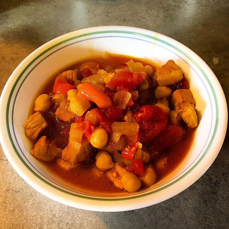 Pork and Chickpea Curry Stew