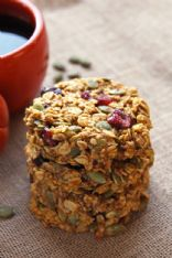 Pumpkin Nut Breakfast Cookies (1 cookie)