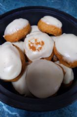 Pumpkin cookies w/cream cheese frosting