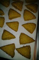 Pumpkin oat mini scones