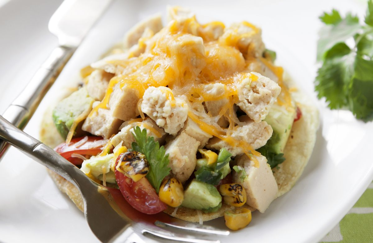 Quick & Easy Chicken Tostadas