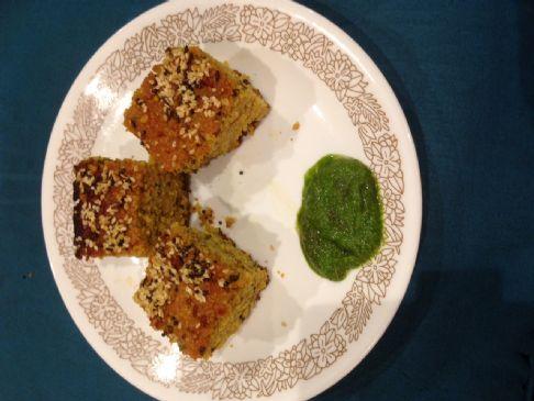 Quinoa Handvo with Urad-Chana-Toor Dal with Methi leaves