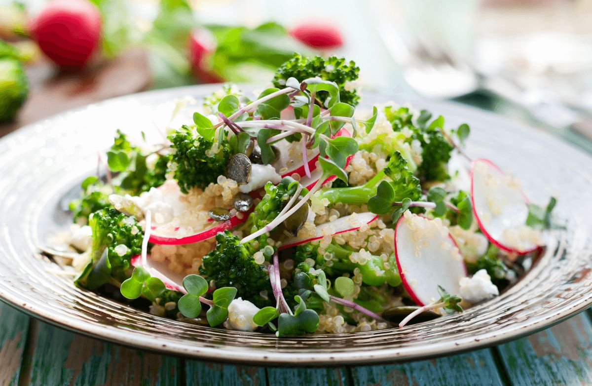 Quinoa Salad with Spring Radishes and Greens