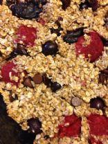 Raspberry Blueberry Granola bars