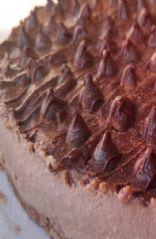 Raw Vegan mocha chocolate cheesecake