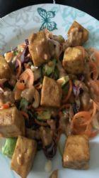 Raw vegetable pad Thai