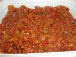 Red Bean Chili with Boca Veggie Ground Crumbles