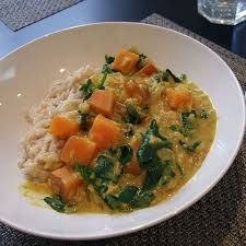 Red Lentil Curry with Sweet Potato