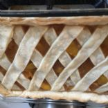 Reduced Sugar Deep Dish Peach  Pie