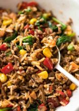 Rice a Roni beef skillet