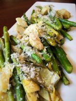 Roasted Asparagus with Artichoke Hearts and Parmesan
