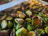Roasted Brussel Sprouts with Asparagus